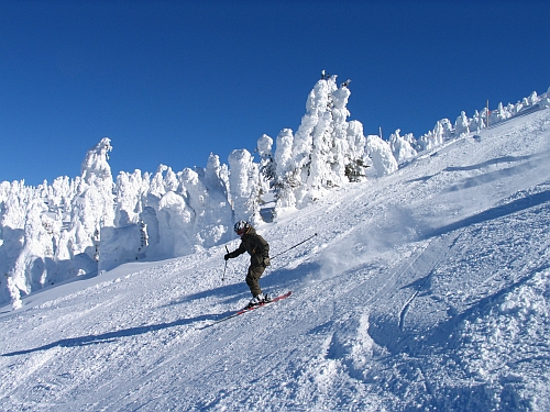 Big White ski hill in Kelowna